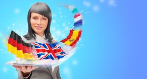 Dívka s vlajkami